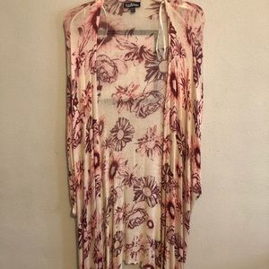 Pink flower coverup